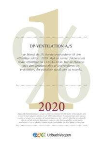 DP ventilation-Eliteleverandør 2020